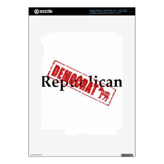 Republicano: DEMÓCRATA iPad 3 Pegatinas Skins