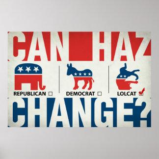 Republicano, Demócrata, LolCat Póster