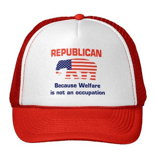Republicano divertido - bienestar gorros bordados