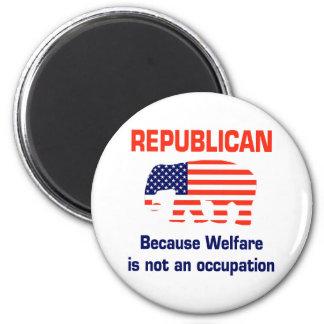 Republicano divertido - bienestar imán redondo 5 cm