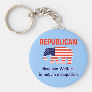 Republicano divertido - bienestar llavero redondo tipo pin