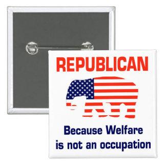 Republicano divertido - bienestar pin