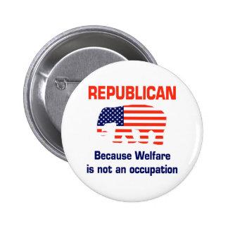 Republicano divertido - bienestar pin redondo de 2 pulgadas