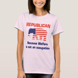 Republicano divertido - bienestar playera