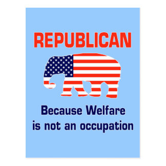 Republicano divertido - bienestar tarjeta postal