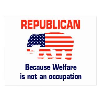 Republicano divertido - bienestar tarjetas postales
