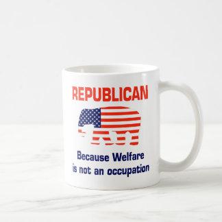 Republicano divertido - bienestar taza de café