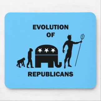Republicano divertido de la evolución tapete de ratón