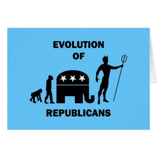 Republicano divertido de la evolución tarjetón
