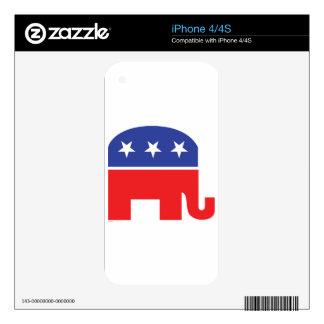 Republicano-Elefante Calcomanías Para iPhone 4S