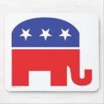 Republicano-Elefante Tapetes De Raton