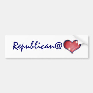 Republicano en el corazón pegatina de parachoque