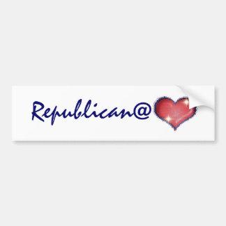 Republicano en el corazón pegatina para auto