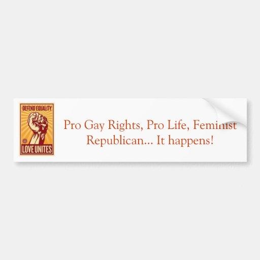 Republicano feminista etiqueta de parachoque