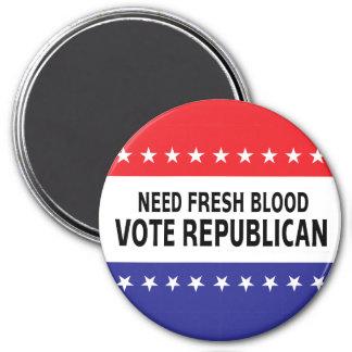 Republicano fresco del voto de la sangre de la nec imán de frigorífico