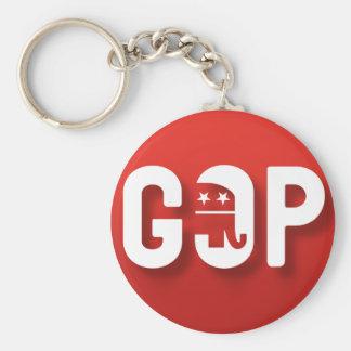 Republicano Llavero Redondo Tipo Pin