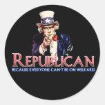 Republicano, no en bienestar etiquetas