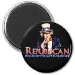 Republicano, no en bienestar imán para frigorifico