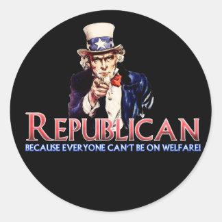 Republicano no en bienestar etiquetas