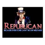 Republicano, no en bienestar postales