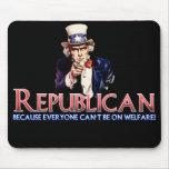 Republicano, no en bienestar tapetes de ratones