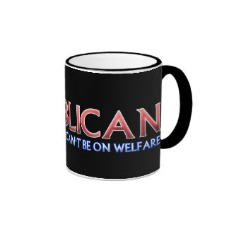 Republicano, no en bienestar tazas de café