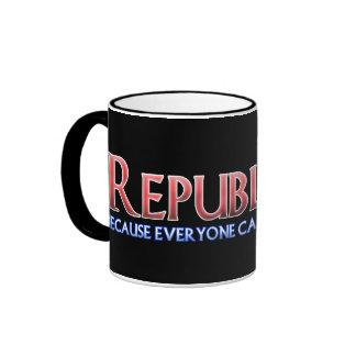 Republicano, no en bienestar taza de dos colores