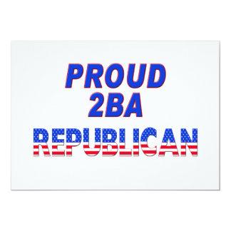 Republicano orgulloso 2BA de las rayas de las Invitacion Personalizada