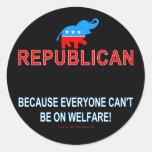 Republicano porque… etiqueta redonda