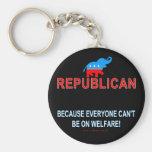 Republicano porque… llavero personalizado