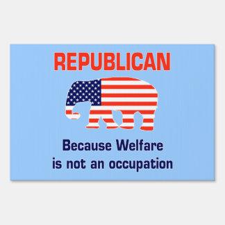 Republicano - porque muestra de la yarda del carteles