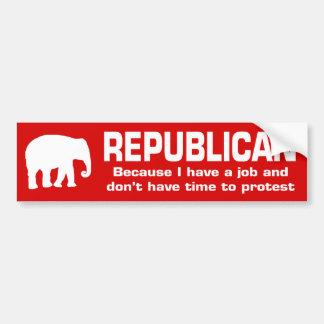 Republicano - porque tengo un trabajo pegatina para auto