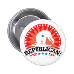 ¡Republicano! ¡Rojo del voto! Pins