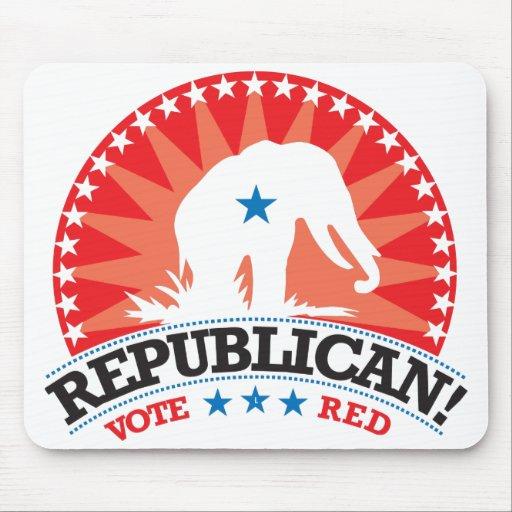 ¡Republicano! ¡Rojo del voto! Alfombrillas De Ratones