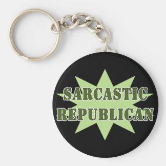 Republicano sarcástico llavero redondo tipo pin
