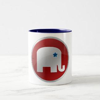 Republicano Taza De Café De Dos Colores