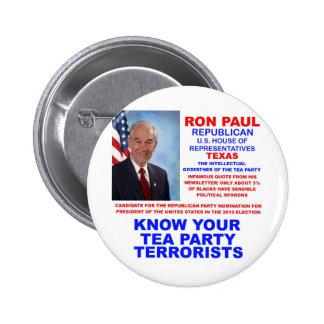 Republicano Tejas del terrorista de la fiesta del  Pin