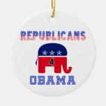 Republicanos 4 Obama Ornamento De Navidad