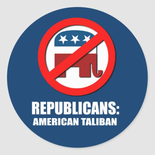 Republicanos - americano Talibán Etiquetas Redondas