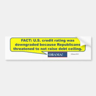 Republicanos causados Downgrade del crédito de los Pegatina De Parachoque