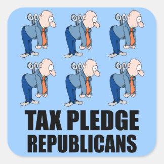 republicanos del compromiso del impuesto pegatina cuadrada