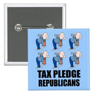republicanos del compromiso del impuesto pin cuadrado
