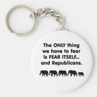 Republicanos del miedo sí mismo llavero redondo tipo pin