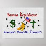 Republicanos del plátano impresiones