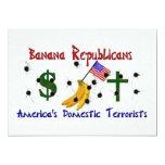 Republicanos del plátano invitación 12,7 x 17,8 cm