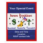 Republicanos del plátano tarjeton