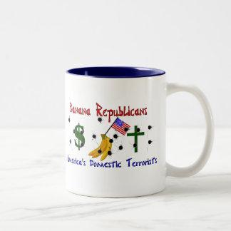 Republicanos del plátano taza de café