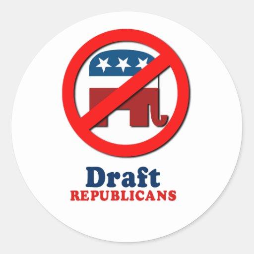 Republicanos del proyecto etiqueta redonda