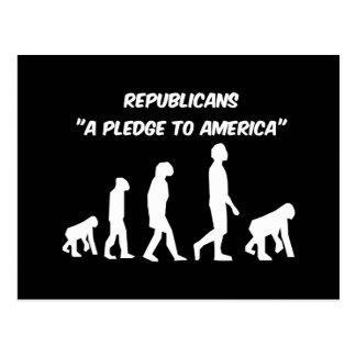 Republicanos divertidos postal