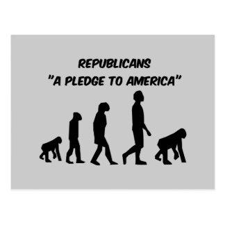 Republicanos divertidos tarjeta postal